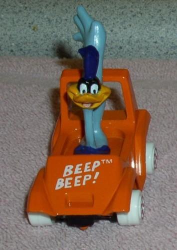 Looney Tunes Road Runner race car Warner Brothers Die Cast Metal Mint on Card