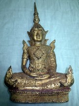 Nice! 8 Inch Antique Gold Phra Ratanakosin 200 Years Ancient Thai Buddha... - $99.99