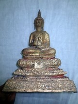 Excellent! 9 Inch Antique Phra Ratanakosin Ancient 200 yr Thai Buddha Amulets - $129.99