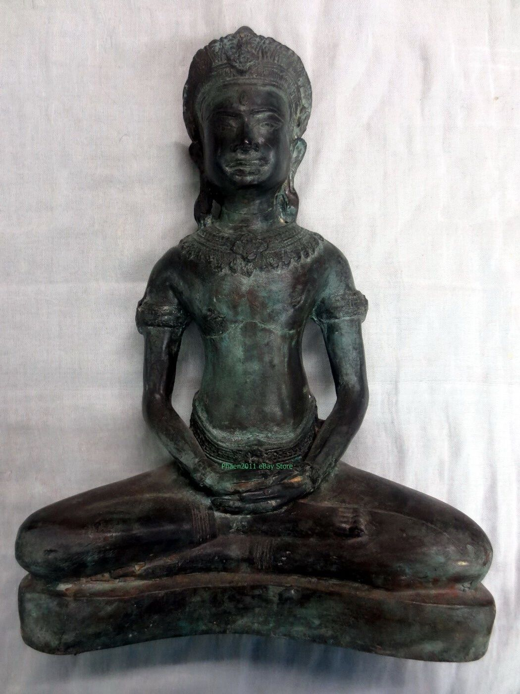 Primary image for Very rare 9 Inch Antique Phra Therd-Lop-buri 400 yr Ancient Thai Buddha Amulets