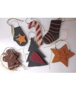 Lot of 6 Ohio Wholesale Wood Christmas Ornaments Tree Stocking Star Glove - $13.67