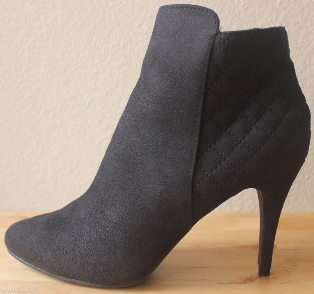 2ed7722340b NIB Dexflex Comfort Prestyne Black Booties High Heel Quilted Ankle Boots Sz  10