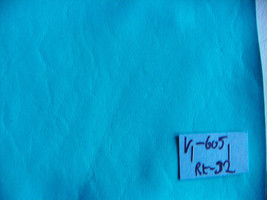 Turquoise Blue Vinyl Upholstery Fabric 1 Yard  V605 - $29.95