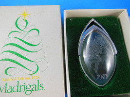Madrigals Littlest Angel Limited Ed Acrylic Christmas Ornament 1978 Mint In Box - $7.61