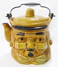 Vintage tea pot pitcher made in japan ben franklin face kitchen ware - $27.72