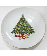 "Porcelain holiday tree jamestown china christmas 7.5"" salad plates set of 7 - $27.71"