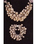 Vintage Necklace Bracelet Set Gorgeous Chunky Balls & Spheres - $89.05