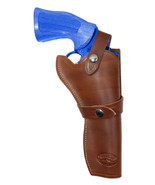 "NEW Barsony Brown Leather Western Style Gun Holster Smith & Wesson 6"" Re... - $79.99"
