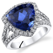 Women's Sterling Silver Trillion Blue Sapphire Halo Cocktail Ring - $129.99