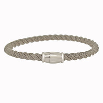 Women's Sterling Silver Italian Twisted Cable Bangle Bracelet - $149.99