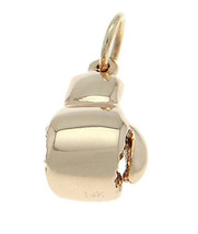 14KT GOLD BOXING GLOVE 3D TRADITIONAL CHARM/ PENDANT image 2