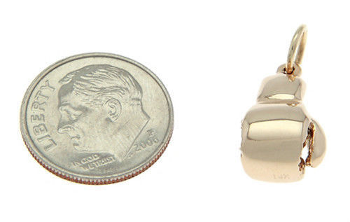 14KT GOLD BOXING GLOVE 3D TRADITIONAL CHARM/ PENDANT image 3