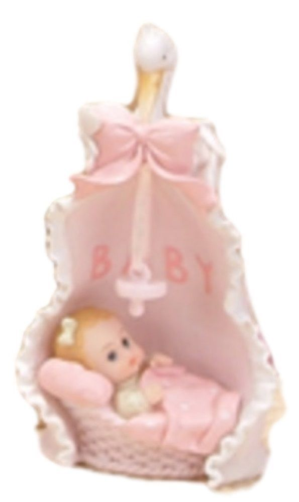 "2 pieces baby girl  swan blanket 6"" tall christening baptism shower decoration"