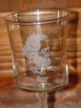 Morris Cerullo World Evangelism Peter from Bible 1979 Clearand Goblet Glass - $47.00