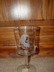 Morris Cerullo World Evangelism Peter from Bible 1979 Clearand Goblet Glass