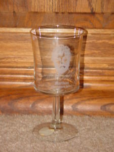 Morris Cerullo World Evangelism Matthias from Bible 1979 Clearand Goblet Glass