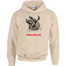 247 Graboid Hoodie 80s movie scary tremors funny cool horror halloween new - $30.00+