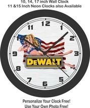 Dewalt American Pin Up Girl Wall Clock-Free US Ship, Craftsman, Milwaukee - $30.68+
