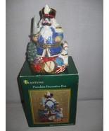 Nut Cracker Santa Porcelain Trinket Keepsake Bo... - $12.95