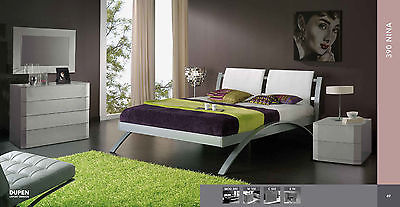 390 Nina Bedroom Set King Modern Contemporary Button Tufted Made in Spain
