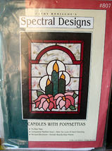 Wall Hanging Pattern 807 Candles with Poinsettias by Spectral Designs - $7.99