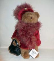 New Berkeley Designs Night On Town Brown Plush Bear in Fur Coat W/Purse ... - $7.99