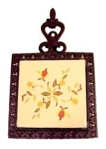 76918a autumn leaf china trivet tea tile jewel t cast iron for teapot dish dinnerware thumb200