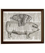 WHEN PIGS FLY Vintage Dictionary Page Art Print No. 0053 - $12.00