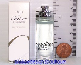 Cartier Eau De Cartier Concentree Edt Miniature Mini Travel Trial Size - $27.61
