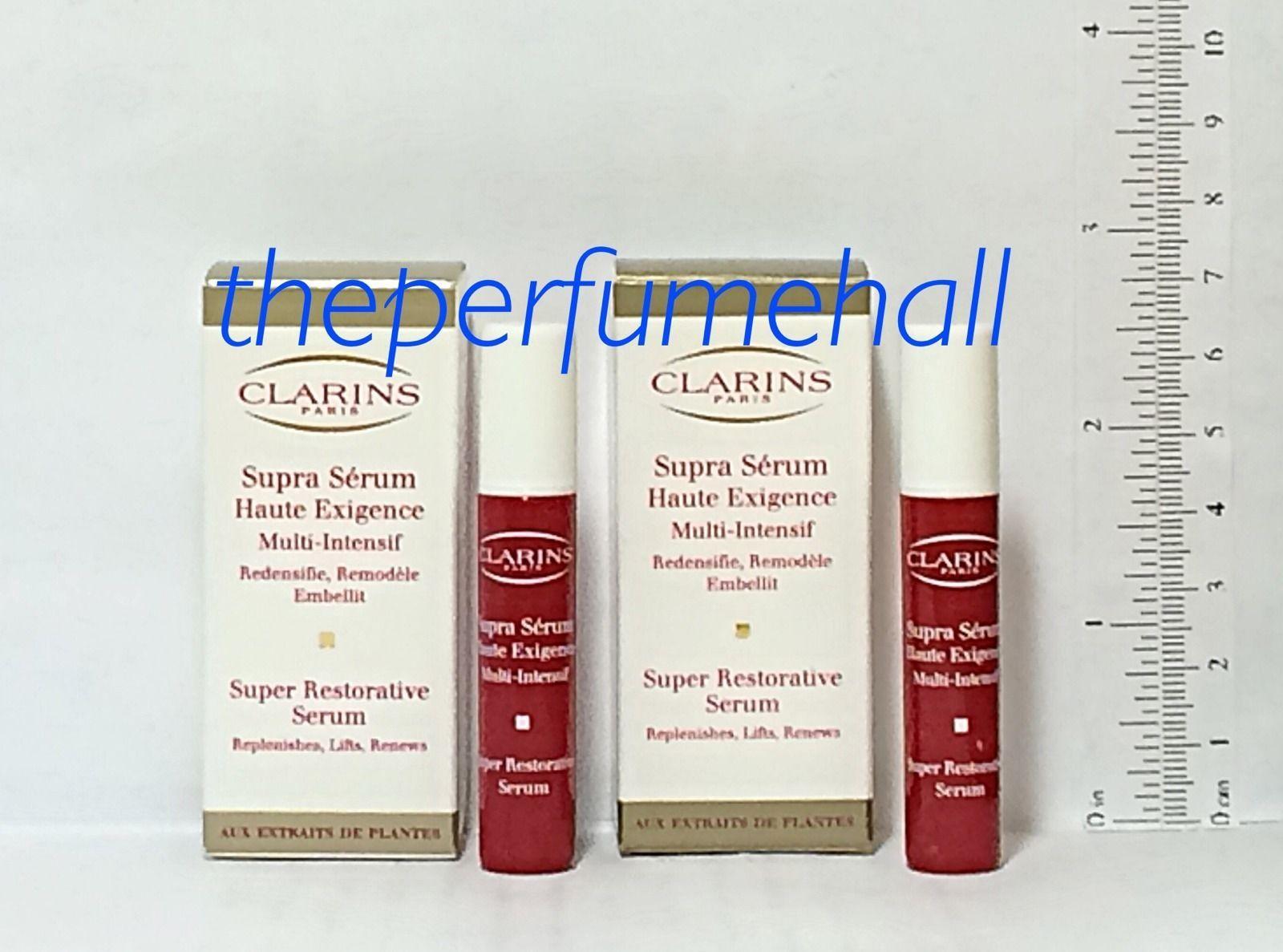 Clarins Serum 64 Listings Hydraquench Cream Gel Normal To Combination Skin 15ml Super Restorative Sample Size 2 X 2ml Travel 1682