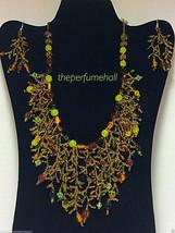 Glass beads Necklace Earrings   acrylic glass b... - $27.76