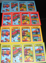 1975 The Magnificent Race Board Game 4 Vehicle Cards - $9.00
