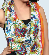 Free Shipping in US - Chanderi Silk Hand Painted Hand Block Printed Mult... - $29.99