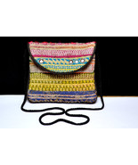 Vintage Tribal Hand Bag with Golden Unique Antique Thread-work  - $19.99