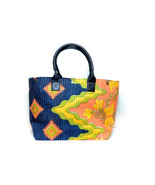 Free shipping in US - Vintage Jaipur Cotton Tote with Kantha Thread Hand... - $69.99