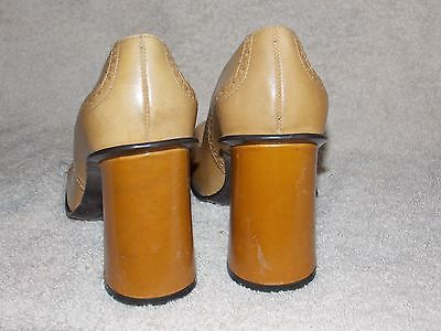 Nine West PUNCHED Tan Ox Pump Heels 6.5M For Women Used