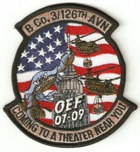 US Army B Co 3-126th Aviation Operation Enduring Freedom CH-47 Patch - $9.99