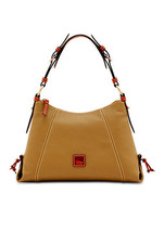 Dooney & Bourke Taupe Pebble Leather Slouch Lea... - $349.99