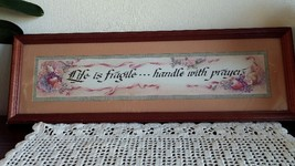 Life is fragile handle with prayer  Home Interiors Homco Picture - $39.99