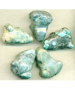 Chinese Turquoise Frog Carvings Lot 6 - $9.00