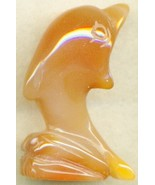 Carnelian Agate Dolphin Carving - $12.97