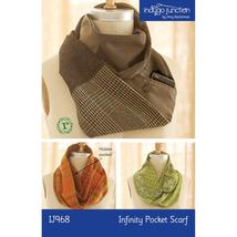 Indygo Junction Pattern Infinity Pocket Scarf I... - $9.99