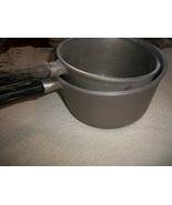 Vintage Aluminum Saucepans with Wooden Handles - $65.00