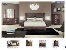 ESF Prestige Cassic Bedroom Set King Bed Modern Contemporary Made in Italy