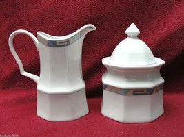CHRISTOPHER STUART CHINA - SOUTHWEST Pattern - SUGAR BOWL & CREAMER - $19.95