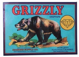 "Grizzly Griptape Diamond Supply Sales Agents 6"" Bear Skateboard Decal Sticker"