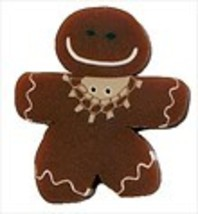 Gingerbread Girl 4458L handmade clay button JABC Just Another Button Company - $3.20