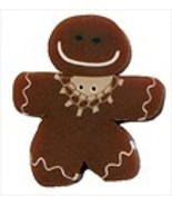 Gingerbread Girl 4458L handmade clay button JABC Just Another Button Com... - $3.20