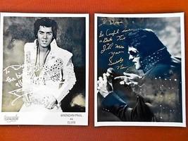 two vintage Elvis Presley Impersonator 8 x 10 g... - $24.75