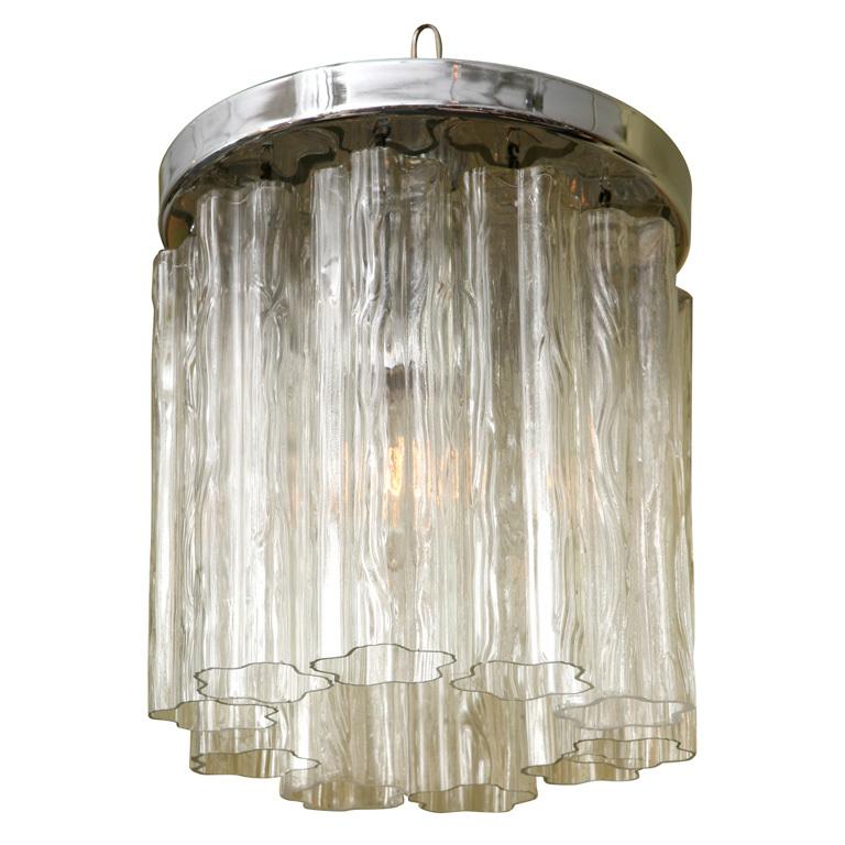 VK4011:  Venetian  Tubular  Murano  Glass Flower Chandelier  - $995.00